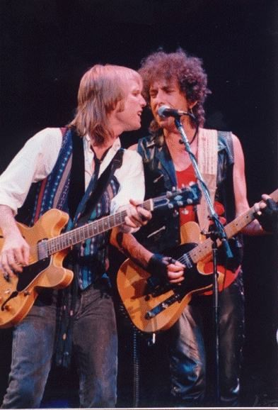 Bob Dyland and Tom Petty on the mic