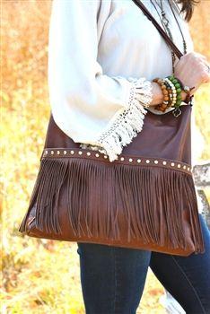 Fringe Leather Purse.