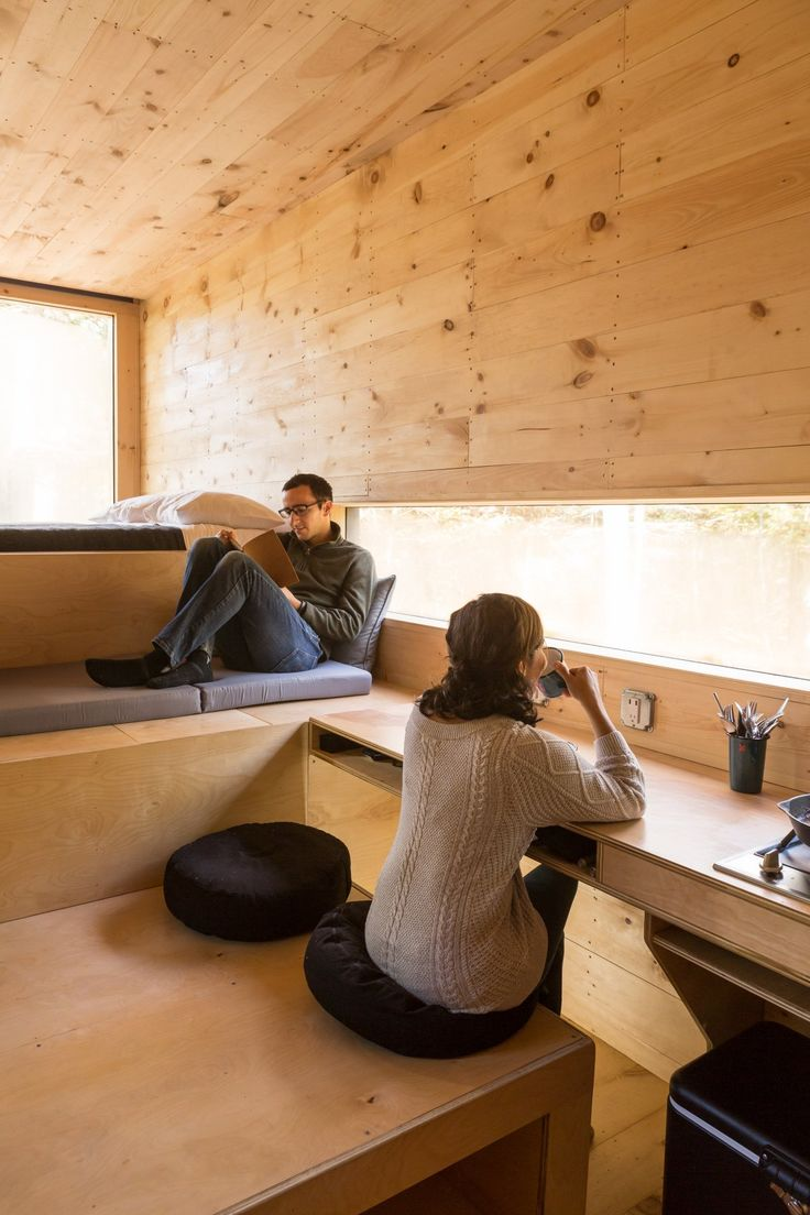 """""""These levels offer un-programmed places to sit, eat, sleep, curl up, lean, do work, and hang,"""" the designers write in a statement. There is no conventional furniture."""
