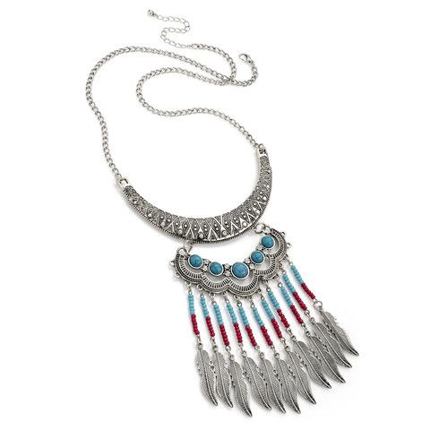 Aleysha Turquoise and Silver Statement Necklace