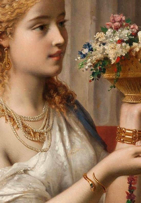 Pierre Oliver Joseph Coomans (Belgian, 1816 - 1889) VESTALIS, detail