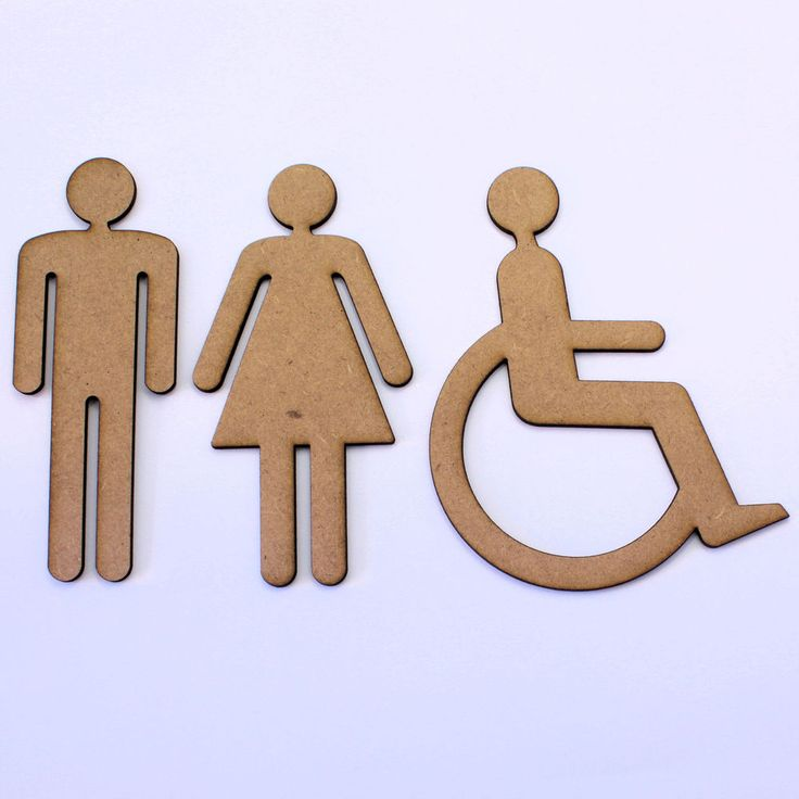 People Craft Shapes, Male / Female / Disabled. Toilet Symbols, 2mm MDF Wood in Crafts, Woodworking | eBay