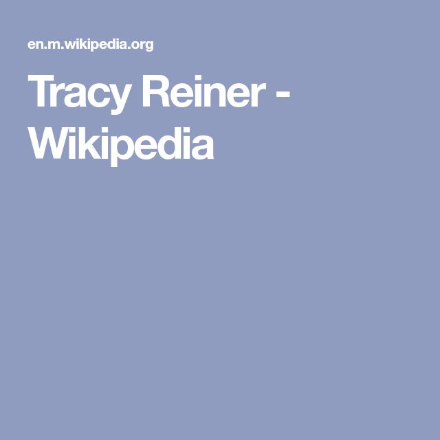 Tracy Reiner - Wikipedia