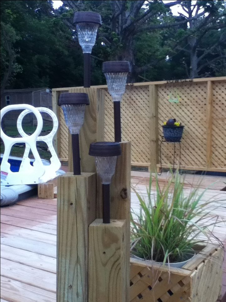 Solar lights for the pool deck. <3                                                                                                                                                                                 More