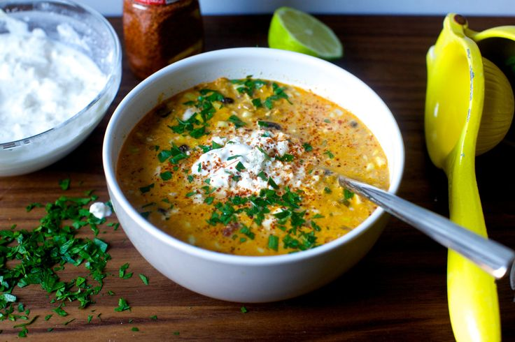 Classic corn chowder meets Mexican-style street corn in a hearty soup with a rich and salty lime and cheese finish.