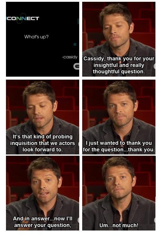 Misha Collins Answers Cassidy