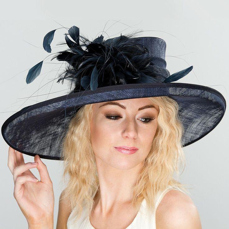 chapeau de mariage belinda bleu marine jane anne designs chapeaux pour reception pinterest. Black Bedroom Furniture Sets. Home Design Ideas