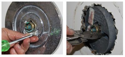 Replace A Shower Valve: Remove The Trim Plate