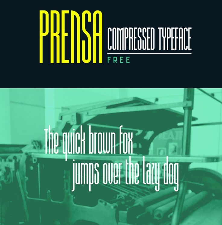 Fresh Free Font Of The Day : Prensa