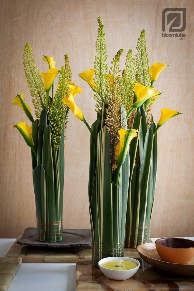 Calla lilies standing bouquet
