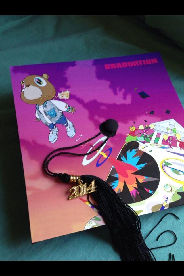 Kanye West Graduation Creative Graduation Caps High School Graduation Cap Decoration Graduation Cap Decoration