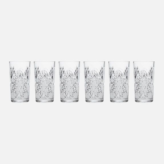 Superbalist Bar and Wine - Hobstar Highball Glass Set of 6
