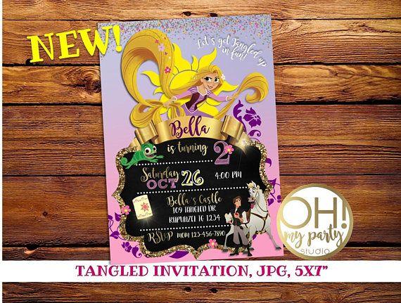 ¡Nuevo! Invitación cumpleaños enredados, Rapunzel invitación, fiesta Rapunzel, Tangled imprimibles personalizados, princesas, invitaciones, invitaciones de enredados   ¡Personalizada su cumpleaños especial con esta única invitación de fiesta de cumpleaños! Este listado está para una invitación digital personalizado con tus datos del evento. Usted recibirá un archivo JPG para imprimir vía email, ningún producto físico será enviado. Usted será responsable de la impresión de tus invitaciones…