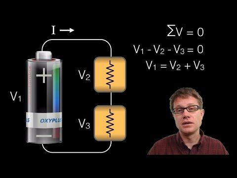 Kirchoff's Loop Rule Paul Andersen explains how Kirchoff's Loop Rule can be used to calculate the voltage of different components of a circuit. The sum voltage throughout an entire loop will sum to zero following the law of conservation of energy. An analogy and several examples are included. In Physics 1 students should be able to apply Kirchoff's loop rule to a simple circuit with a battery and resistor. In Physics 2 capacitors and parall