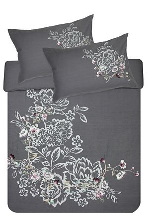 """This floral duvet cover set is made from a 144 thread count polycotton and offers great value with both print and embroidered embellishments. Single and three quarter include 1 standard pillowcase, double, queen and king include 2 standard pillowcases.<div class=""""pdpDescContent""""><BR /><BR /><b class=""""pdpDesc"""">Fabric Content:</b><BR />50% Polyester 50% Cotton<BR /><BR /><b class=""""pdpDesc"""">Wash Care:</b><BR>Lukewarm machine wash</div>"""