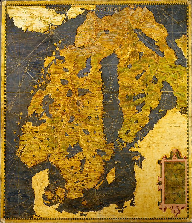 This map of Scandinavia was made in 1565 by Ignazio Danti