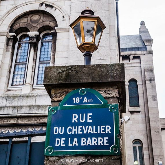 Rue du Chevalier de la Barre Paris by FlaviaMorlachetti on Etsy