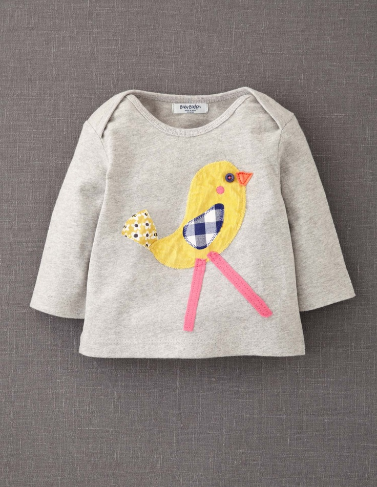 Animal Appliqué Bird T-shirt #boden #magicalmenagerie