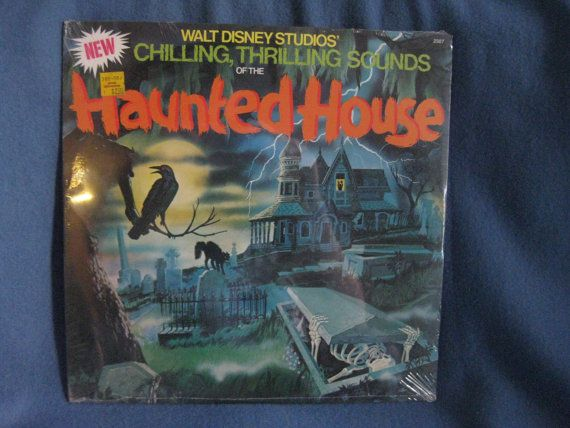 SEALED, Vintage, New Chilling Thrilling Sounds Of The Haunted House, Vinyl LP, Record Album Disney, Halloween, Horror Sound Effects via Etsy