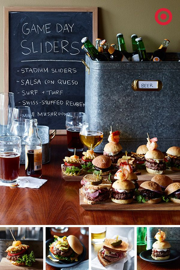 Your turn to host the big game-day party? Bring it. A gourmet mini-burger bar and craft beer tasting are sure to impress.