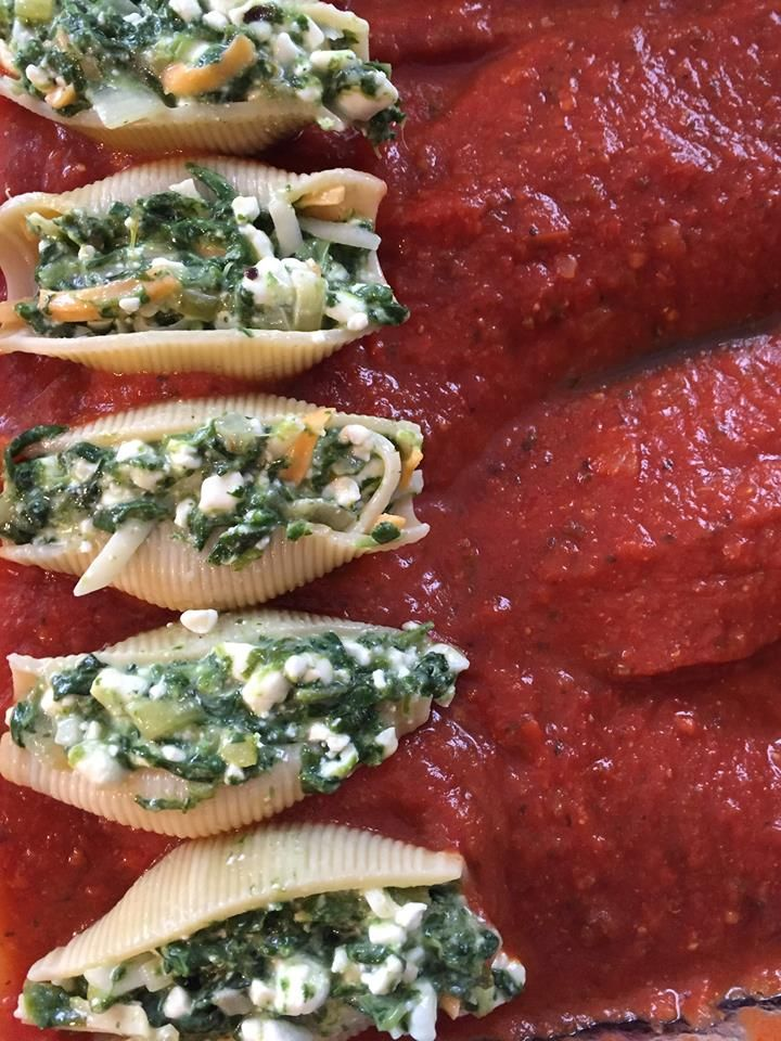 Marta's recipe: Cottage cheese and spinach shell