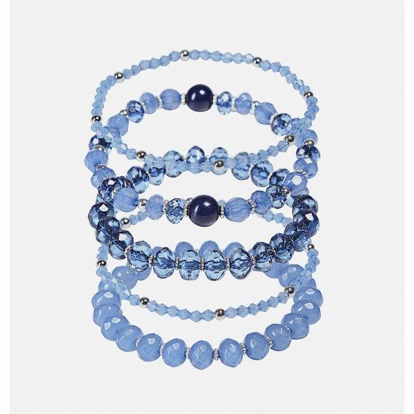 Avenue Blue Facet Bead Bracelet Set ($16) ❤ liked on Polyvore featuring jewelry, bracelets, blue, plus size, blue jewellery, fake jewelry, imitation jewellery, beaded bangles and beading jewelry
