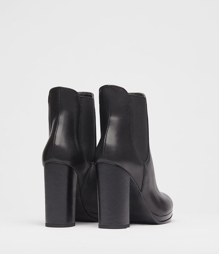 chelsea boots damen schwarz back