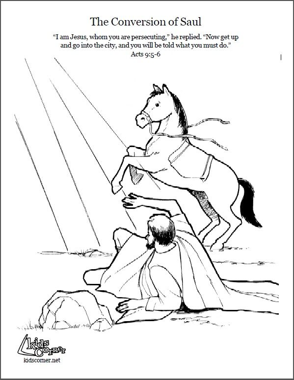 saul conversion story coloring pages - photo#5