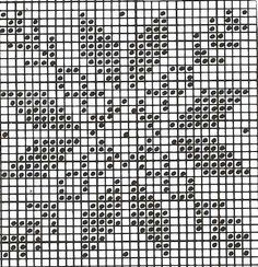 Cross stitch, but good for a filet crochet pattern too!