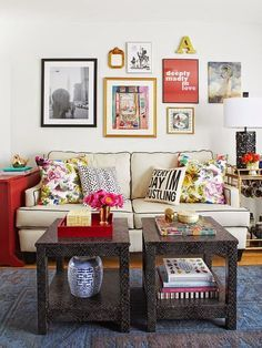 Tiny-Ass Apartment: Double up: Using two small coffee tables instead of one