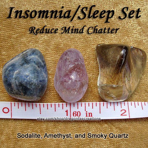 Insomnia, Sleep, Nightmares, Sweet Dreams Crystal Healing Set - Amethyst, Sodalite, and Smoky Quartz