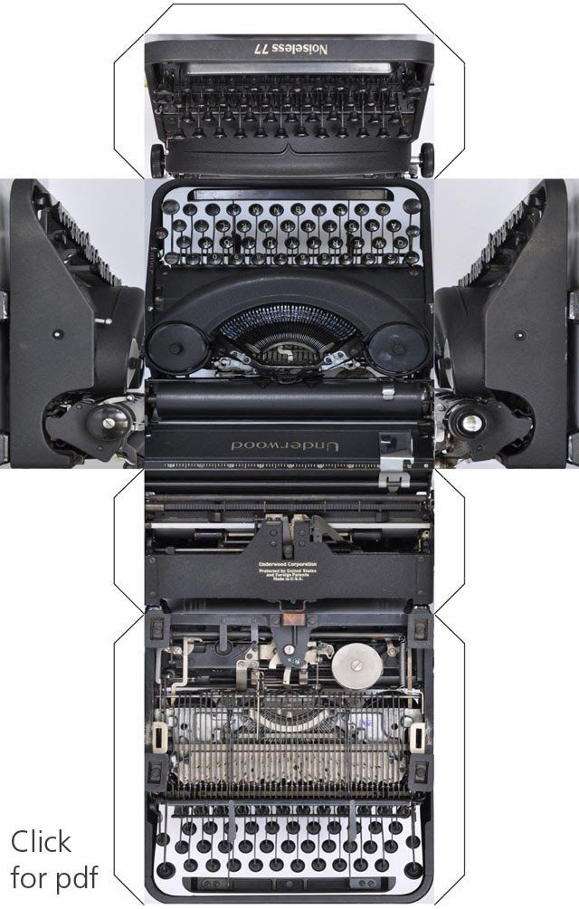 Printable :: graphikube typewriter.  Goes with my two typewriter stamps, dymoprinter and typewriter fonts.