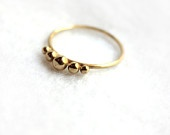 Unique hand made ring, Gold plated delicate ring, Friendship ring, size made to order ring.