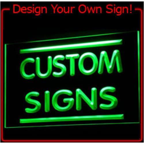 Tm Custom LED Neon Light Teken Order (ontwerp uw eigen licht) groothandel Dropshipping Op/Off Schakelaar 7 Kleuren DHL