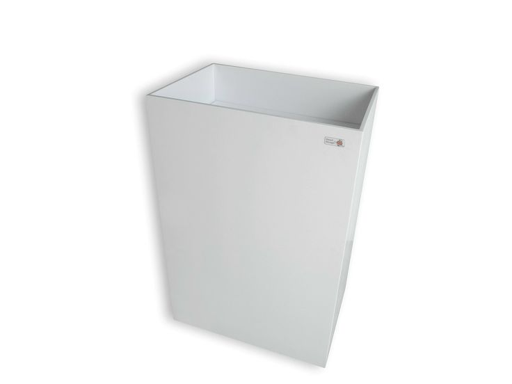 lavabo de pie rectangular de corian colonna by heart design by astaga