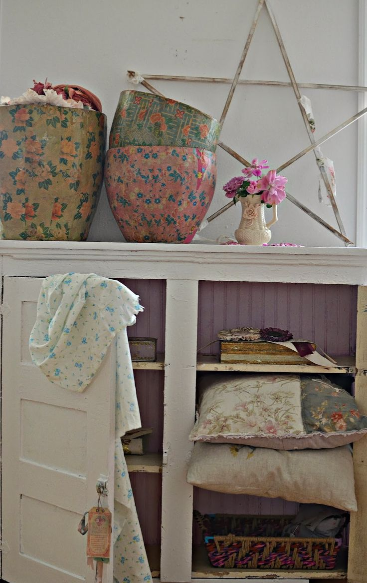 Romantic shabby chic home romantic shabby chic blog - New Vintage Pink Paper Mache Bucket From Shabby Chic Couture Store Rachel Ashwell Style