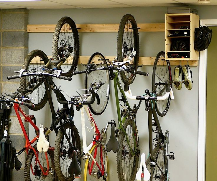 Looking for a cheap and easy DIY bike rack? This rack requires nothing more than a drill and a few 2x4s, some bike hooks, and a handful of screws. For measurements and more, check the video!