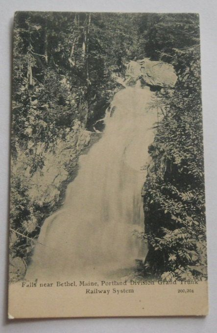 Falls near Bethel, Maine, Portland Division Grand Trunk Railway System, Vintage ME Postcard on Etsy