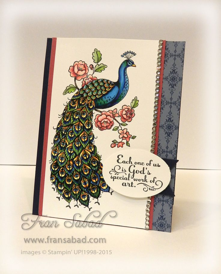 When I first saw this stamp set - Perfect Peacock - I knew I would have to order it just so I could sit and color! Very therapeutic :) I colored him up with Copic Markers and used a sentiment from...
