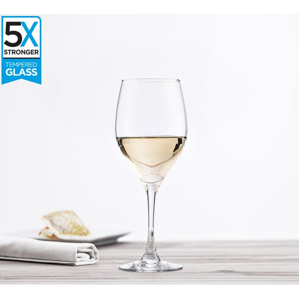 Hostelvia Sauvignon Tempered Wine Glasses (Set of 6)