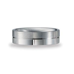 6mm Mens Benchmark Carved Palladium Wedding Ring