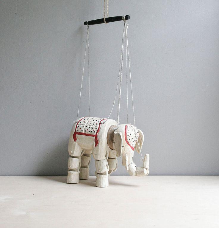 antique wood elephant marionette: Antiques Wood, Elephants Luv, Wood Elephants, Elephants Marionette, Marionette Ideas, Antiques Marionette, Antique Marionette, Elephant Marionette, Antique Wood