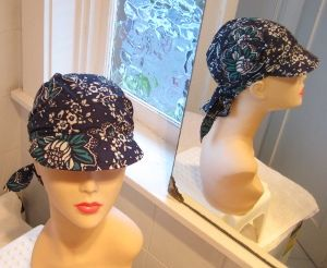 sewing patterns chemo head scarves | Bandana style scarf hat pattern I made today pattern available