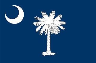 Depicted above is the state flag of South Carolina. The flag of the state of South Carolina is a symbol of the authority and sovereignty of the state and is a valuable asset of its people. The South Carolina flag is flown over all state buildings just below the country flag of the United States of America.