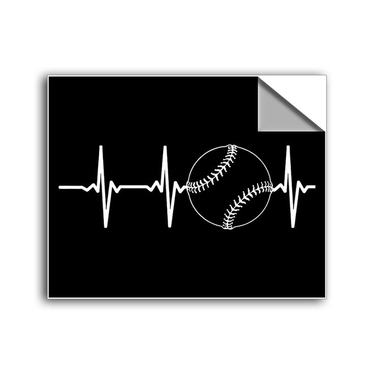 "FREE SHIPPING - ""Baseball Heartbeat"" Vinyl Decal Sticker (5"" tall) - Limited Time Only!"