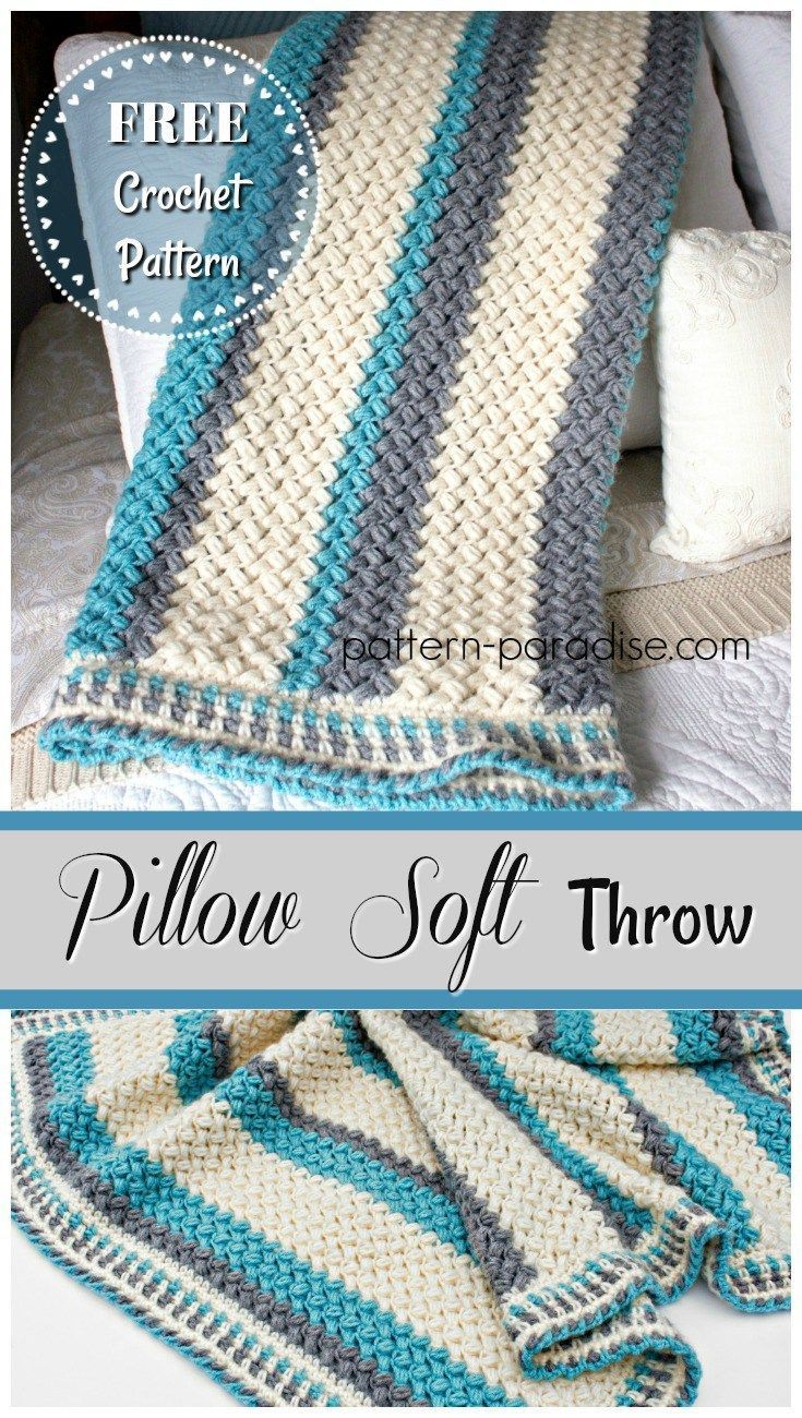 6408 best crochet free patterns charts images on pinterest free crochet pattern pillow soft throw blanket pattern paradise bankloansurffo Choice Image