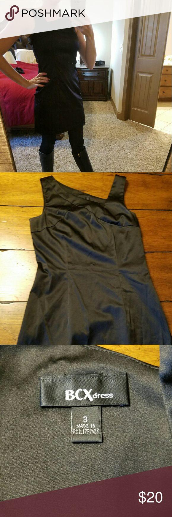 BOGO Sale! Little Black Dress Silk-like Little Black Dress  Entire closet BOGO 50% off! BCX Dresses