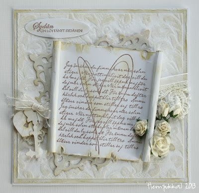 old style wedding card
