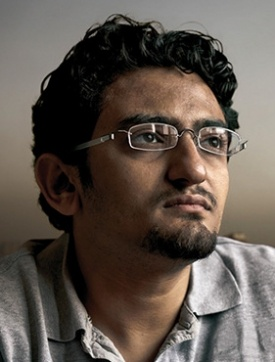 Wael Ghonim , the internet activist who created a Facebook page that started the 2011 Egyptian Revolution and restored democracy to Egypt.