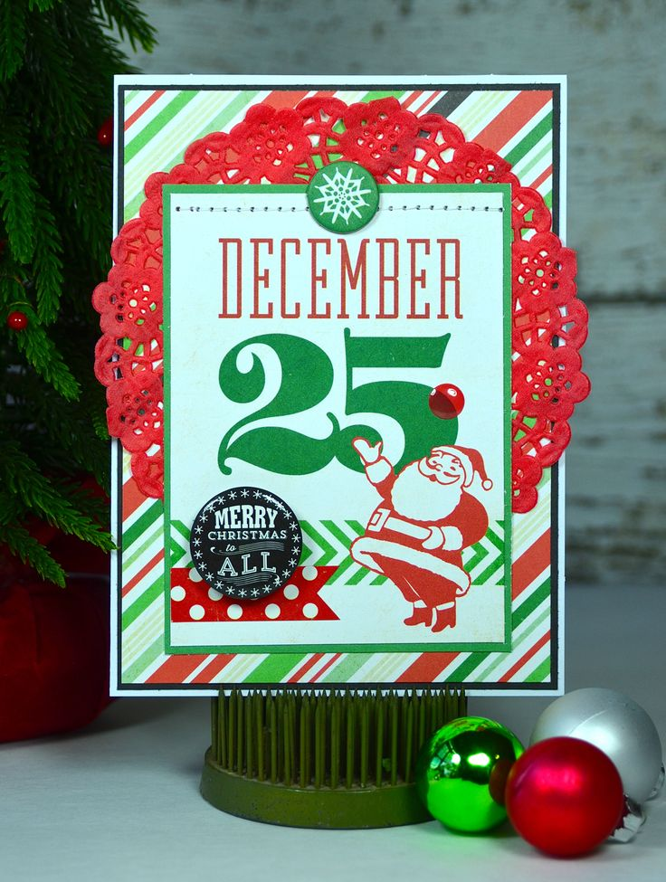 Card Share: December 25 using @echoparkpaper Christmas Cheer. #card #Christmas #holiday #freepdf #santa